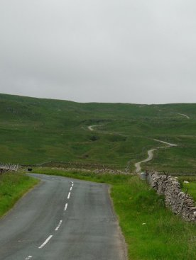 The road near Buckden.